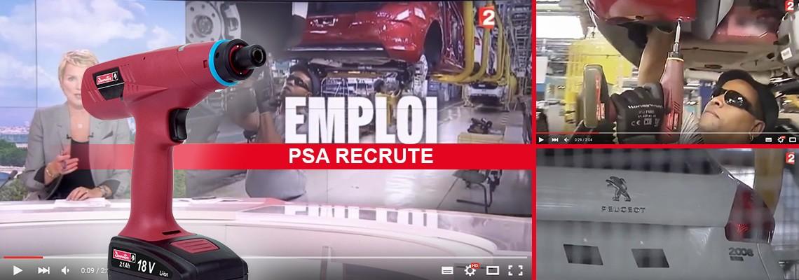 PSA Peugeot Citroen Mulhouse plant is using our E-LIT Battery Tools