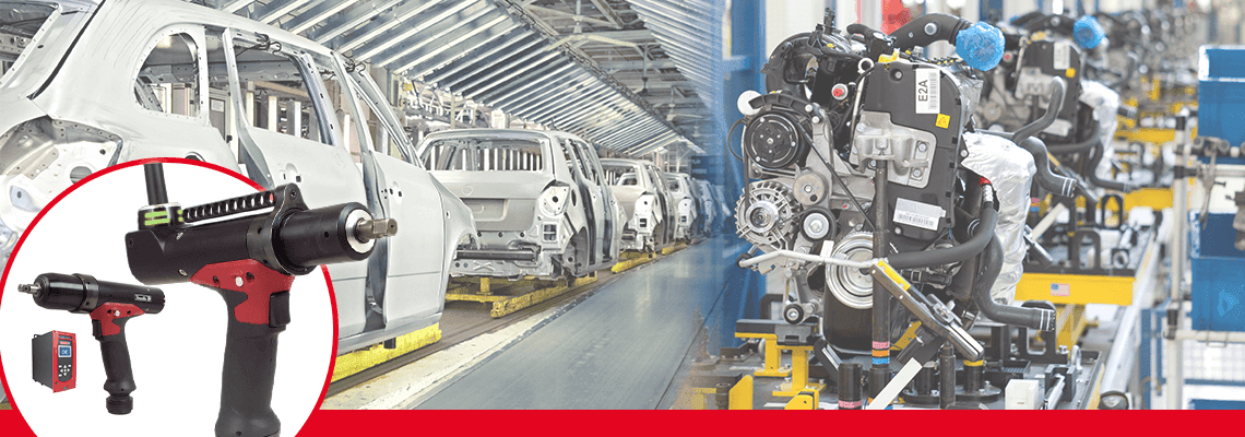 Carmakers accelerate transition from pneumatic to electric reaction-free tooling!