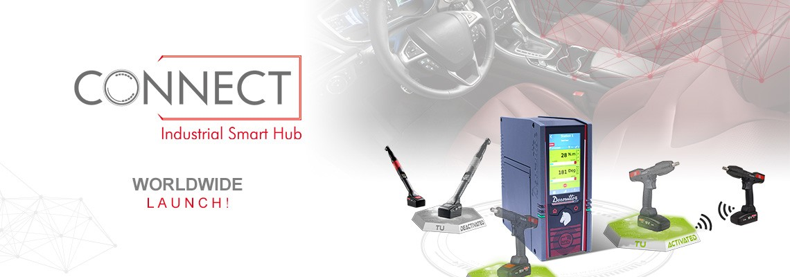 We are proud to introduce our new Industrial Smart Hub named CONNECT: a Desoutter 4.0 solution!