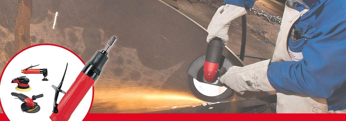 You're looking for a pneumatic grinder for cone wheels? Desoutter Industrial Tools designed high performance pneumatic grinders. Ask for a demonstration!