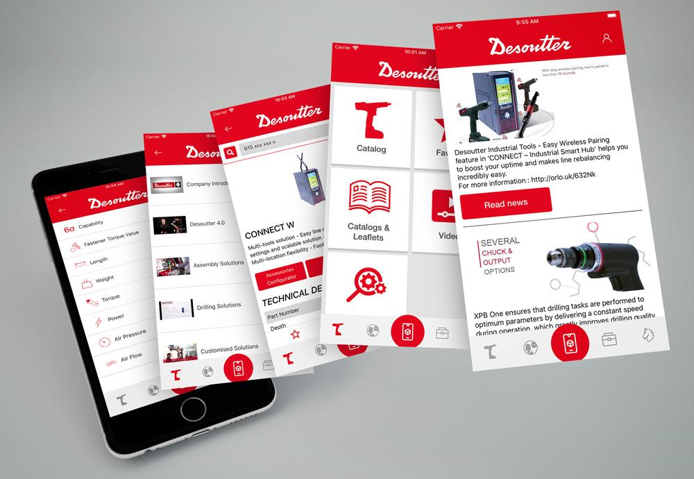 Desoutter Assistant App Screens