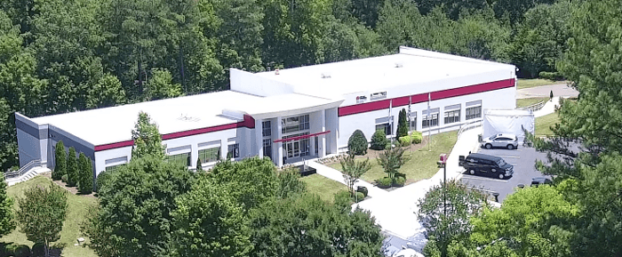 View of Desoutter Tools North America building from air