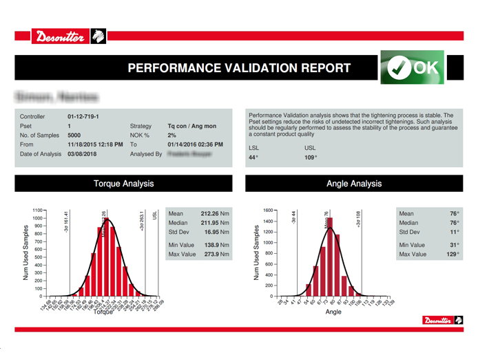 Desoutter Tools Industrial Performance Validation
