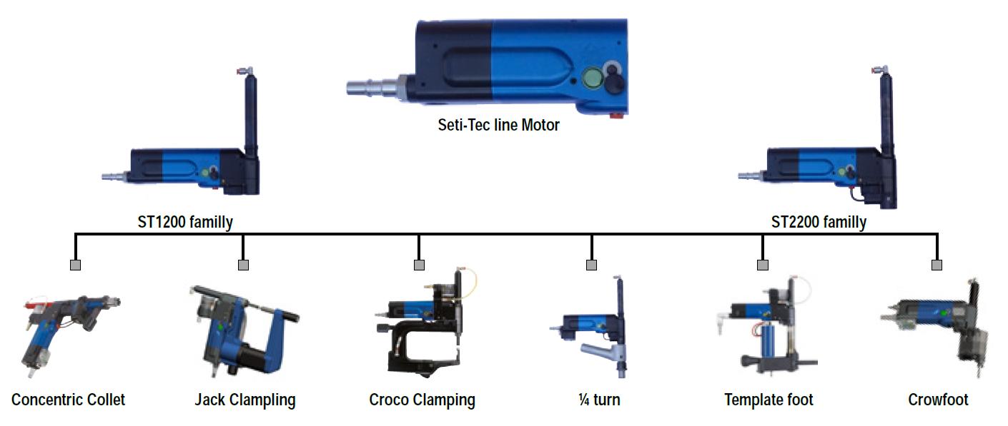 Seti-Tec Line Pneumatic Advanced Drilling Units modular concept Desoutter